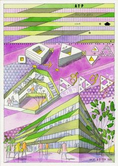 Architecture Illustration by architect Mikkel Frost from CEBRA