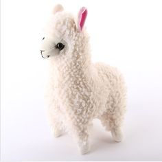 white alpaca plush