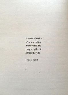 I wish that other life well. They're the lucky ones.
