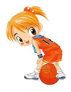 Láminas Infantiles y para Adolescentes (pág. 234) | Aprender manualidades es facilisimo.com Cartoon People, Cartoon Images, Girl Cartoon, Felt Owl Pattern, Theme Sport, Gif Animé, Exercise For Kids, Free Prints, Kids Sports