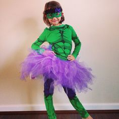 Diy hulk costume for girls tutorial using this idea but to make emmy chose to be the hulk this year definitely making a tutu like this to girly it up solutioingenieria Image collections
