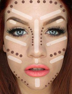 contorno para rosto