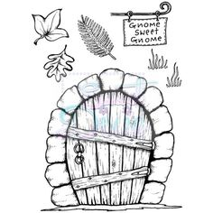 Sweet Dixie Clear Stamp Gnome Door