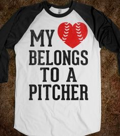 My Heart Belongs To A Pitcher (Baseball Tee) - Sports Girl - Skreened T-shirts, Organic Shirts, Hoodies, Kids Tees, Baby One-Pieces and Tote Bags