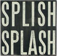 Box Sign - Splish Splash