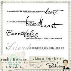 Linear Friendship Wordart