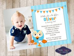 Hoot Party Flags Photo Printable Birthday by TweetPartyBoutique, $15.00