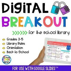Digital Breakout – Library Rules and Orientation Digital breakout for the school library Library Rules, Library Lesson Plans, Library Skills, Library Lessons, Piano Lessons, Library Ideas, Library Organization, Library Programs, Online Programs