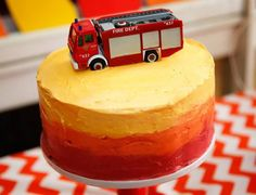 Show us your party - Will's fabulous fire truck birthday