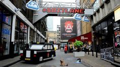 To promote the release of Wreck-It-Ralph in London, the famous Brick Lane street has been turned in true 8-bit landscape for a weekend, installation by Aden Hynes Sculpture Studios.