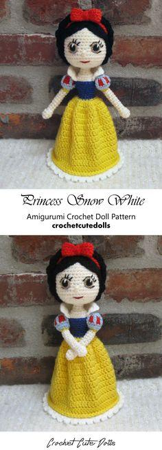 Amigurumi Crochet Doll Pattern & Tutorial for the Disney Princess Snow White by Crochet Cute Dolls