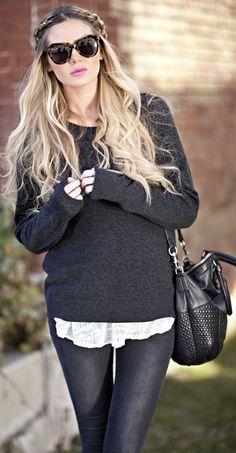 Equipment Gray Maternity Sweater by Barefoot Blonde