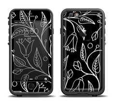 The Black and White Vector Branches Apple iPhone 6/6s Plus LifeProof Fre Case Skin Set from DesignSkinz