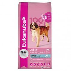 Eukanuba Adult Weight Control Large Breed, é o alimento indicado para cães de raças grandes e/ou gigantes (> 25 kg), com tendência para ter excesso de peso. Contém menos 30% de gordura, quando comparado com Eukanuba Adulto Raça grande, assim como ingredientes de alta qualidade necessários para a saúde e bem-estar do seu cão adulto.