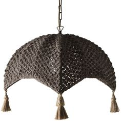 Polana hanging lamp. Hanging lamp, handmade, with a cotton lampshade.