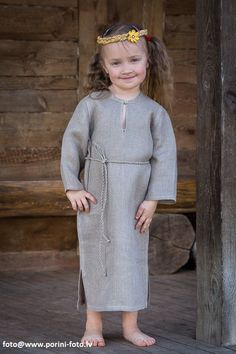 Girls Peasant Linen Dress. Very soft natural linen girl's sleeveless summer dresses.