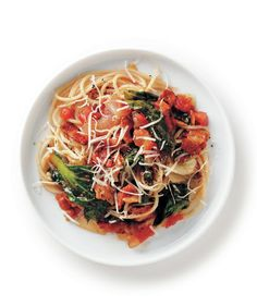 Yes, marinara is nice. But may we recommend bacon and escarole? These easy recipes put something new on top of spaghetti.