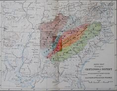 1899 Southern Appalachian Mountains, Cumberland Plateau, Chattanooga District…