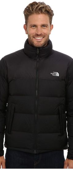The North Face Nuptse Jacket (TNF Black/TNF Black) Men's Coat - The North Face, Nuptse Jacket, C759KX7, Apparel Top Coat, Coat, Top, Apparel, Clothes Clothing, Gift, - Street Fashion And Style Ideas