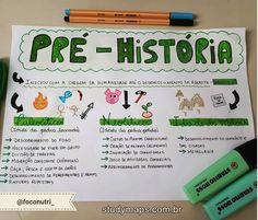 Pesquisou por Pré história - STUDY MAPS Bullet Journal School, Study Organization, Letter E, Study Inspiration, School Notes, Studyblr, Student Life, Study Motivation, Study Tips