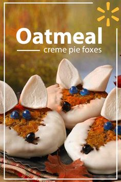 These Oatmeal Creme Pie Fox cookies will win over any kiddo. They use premade cookies, white chocolate, jelly beans and large marshmallows for an extra sweet treat. They're the perfect art project & dessert all at the same time. Find ingredients at Walmart.com.