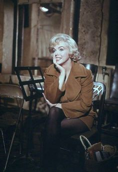 Marilynon the set of Let's Make Love;1960