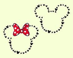 Disney svg Mickey Head Outline svg Minnie Head Outline svg Disney Monograma svg Minnie Mickey Mouse svg files for Cricut Silhouette cut file