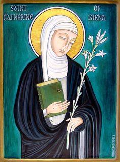 St. Catherine of Siena    Dominican saints   Dominican Black Abbey Kilkenny