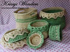 Baskets - The Slanted Life: Free Crochet Patterns