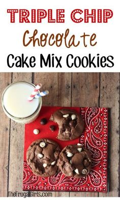 Triple Chip Chocolate Cake Mix Cookies Recipe! ~ from TheFrugalGirls.com ~ these cookies are so easy to make and crazy delicious!!! #cakemix #recipes #thefrugalgirls