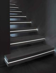 Escaliers futuristes. Lumières Futuristic stairs. Light