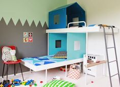 the boo and the boy: small room inspiration with bunk beds...