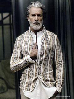 Aiden Shaw, Model 21 Disgustingly Hot Silver Foxes That'll Make You Fall In Love With Gray Hair Sharp Dressed Man, Well Dressed Men, Aiden Shaw, Look 2015, Le Figaro, Look Man, La Mode Masculine, Silver Foxes, Beard Styles