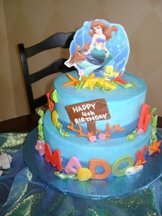 Little Mermaid Birthday Cakes