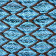 kunststof kleed medium   ruit - turquoise/donkerbruin
