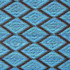 kunststof kleed medium | ruit - turquoise/donkerbruin
