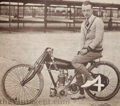 John Vivian Prestwich, aboard a Diamond 250cc, powered by his family's side valve J.A.P. engine.