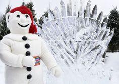 Carnaval de Québec Game of Thrones made of ice!
