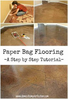 Paper-Bag-Flooring, looks perfect for the downstairs.