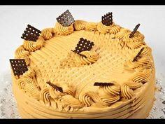 Karamell torta - YouTube Cake Decorating, Smoothie, Cukor, Birthday Cake, Make It Yourself, Recipes, Food, Facebook Video, Pasta