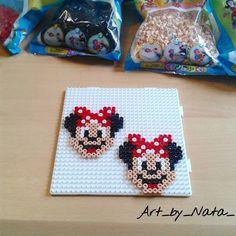 Minnie Mouse! :) #hama #hamabeads #hamabeadsart #hamamidi #midi #handmade #bügelperlen #perler #bead - art_by_nata_
