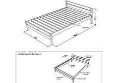 cama de dos plazas- esquema- construir- planos                              …