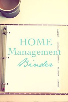 How to make a home management binder. Gives really good descriptions of what to put into every section and why.