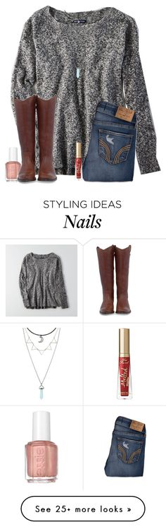 """Meet my new addiction: reading horoscopes on Instagram"" by christyaphan on Polyvore featuring American Eagle Outfitters, Hollister Co., Essie, Frye and Too Faced Cosmetics"
