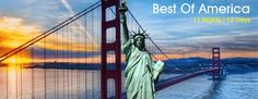 Book 11 Night / 12 Days Best of America Group Tours 2015 at Just Rs. 2, 35,000/- (Per Person) only.