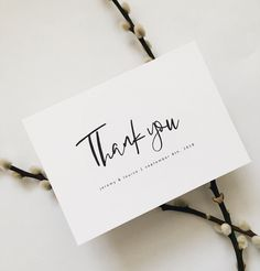 business thank you cards Clean lines, white space & beautiful font pairing - our Zinnia collection provides a beautifully fresh canvas to send thanks to friends, family and coll Thank You Card Design, Photo Thank You Cards, Thank You Postcards, Thank You Letter, Thank You Notes, Thank You Gifts, Thank You Font, Thank You Typography, Thank You For Order