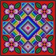 Resultado de imagen para ROSE WAYUU PATTERN Square Patterns, Loom Patterns, Quilt Patterns, Cross Stitching, Cross Stitch Embroidery, Embroidery Patterns, Cross Stitch Pillow, Cross Stitch Heart, Cross Stitch Designs