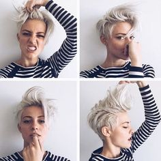 Charming Pixie Cuts 2018 With Cool Pixie Hairstyles Lovely 80 Cool Short Messy Pixie Haircut Ideas Pixie Haircut For Thick Hair, Longer Pixie Haircut, Short Hair Cuts, Short Beard, Pixie Cuts, Haircut Short, Pixie Mohawk, Funky Short Hair, Short Hair Colour