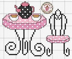 This Pin was discovered by Ebr Cross Stitch Cards, Cross Stitching, Cross Stitch Embroidery, Cross Stitch Designs, Cross Stitch Patterns, Pixel Art, Cross Stitch Kitchen, Needlepoint Designs, Sewing Crafts
