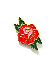 Red Rose Lapel Pin – Strange Ways